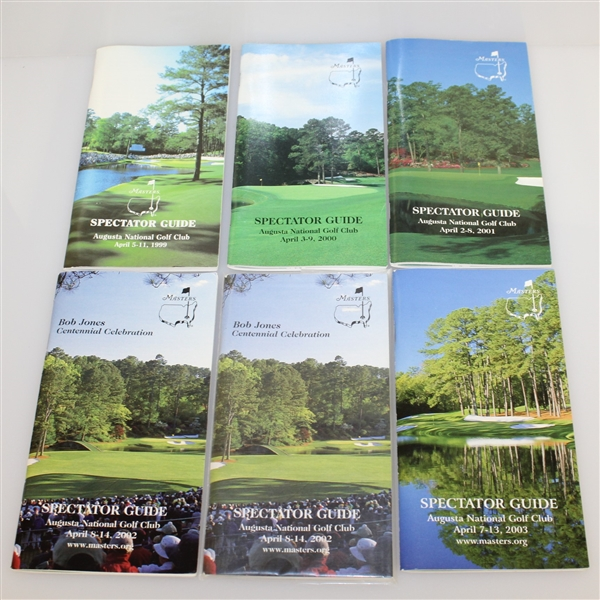 Eleven Masters Spectator Guides - 1999, 2000, 2001, 2002(x2), 2003, 2004(x2), 2008, & 2009(x2)
