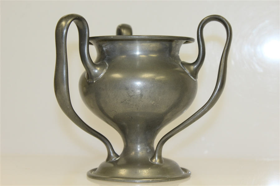 1905 Fall River Golf Club Pewter Trophy Won by Edgar Durfee
