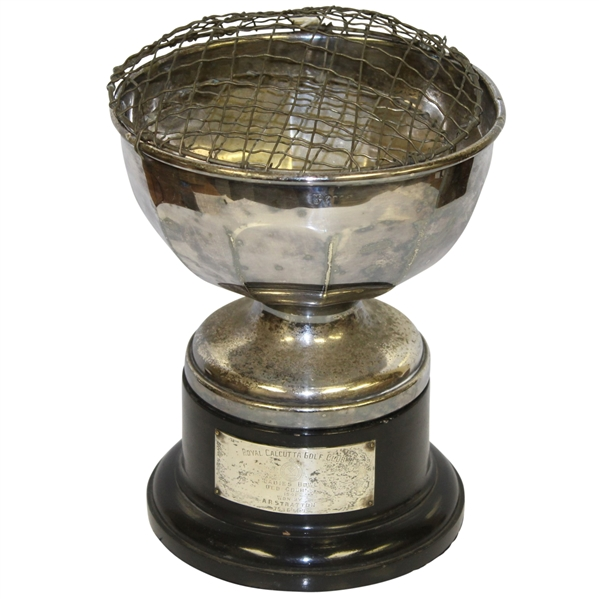1941 Royal Calcutta Golf Club Ladies Bowl Trophy Won by A. R. Stratton