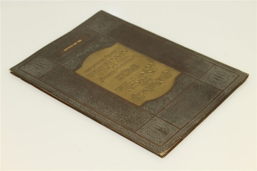 1924 Yorktown Country Club Prospective Life Membership Booklet - Never Developed - Rare