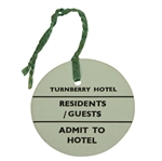 Turnberry Hotel Residents/Guests Admit to Hotel Ticket #539 - Undated - Deane Beman Collection