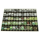 Champions of Golf The Masters Collection Uncut Sheet of Golf Cards