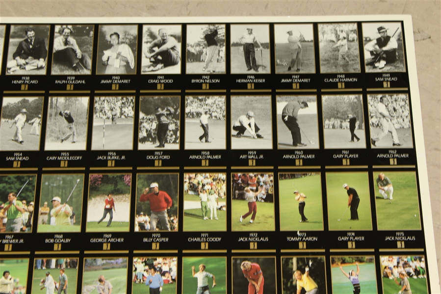 Champions of Golf 'The Masters Collection' Uncut Sheet of Golf Cards