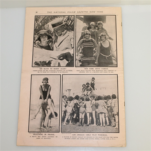 Three Vintage 1920's Police Gazette Illustrated Sports Journals - Bobby Jones Content