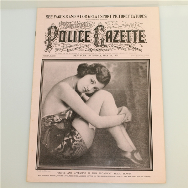 Three Vintage 1920's Police Gazette Illustrated Sports Journals - Miscellaneous