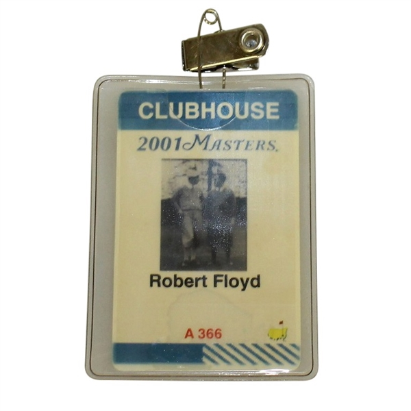 Robert Floyd's 2001 Masters Tournament Clubhouse Badge - Tiger Woods 2nd Masters Win