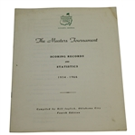 1967 Masters Tournament Scoring Records & Statistics Booklet Compiled by Bill Inglish