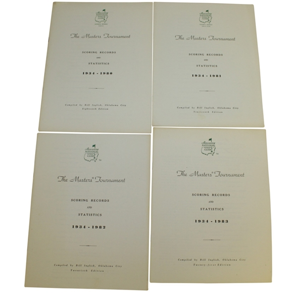 1981-1990 Masters Tournament Scoring Records & Statistics Booklets Compiled by Bill Inglish