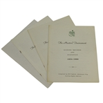 1991, 1992, 1993, & 1996 Masters Tournament Scoring Records & Statistics Booklets Compiled by Bill Inglish