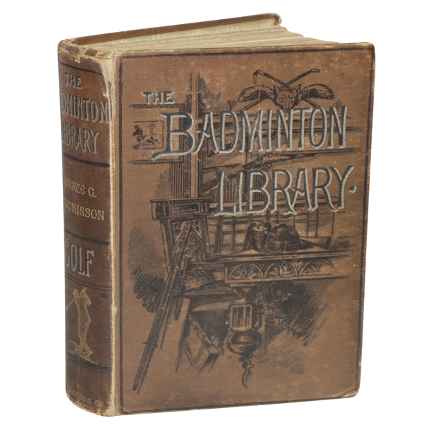 1890 'The Badminton Library' Book by Horace Hutchinson - 2nd Edition