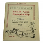 1923 Open Championship at Troon Program Reproduction Booklet - Arthur Havers Win