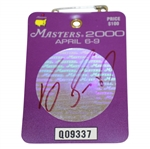 Vijay Singh Signed 2000 Masters Tournament Badge #Q09337 JSA ALOA