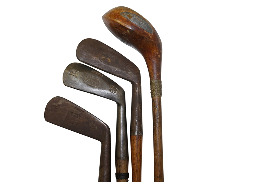 Burke Juvenile Irons & Wood Set in Wright & Ditson Championship Club Bag