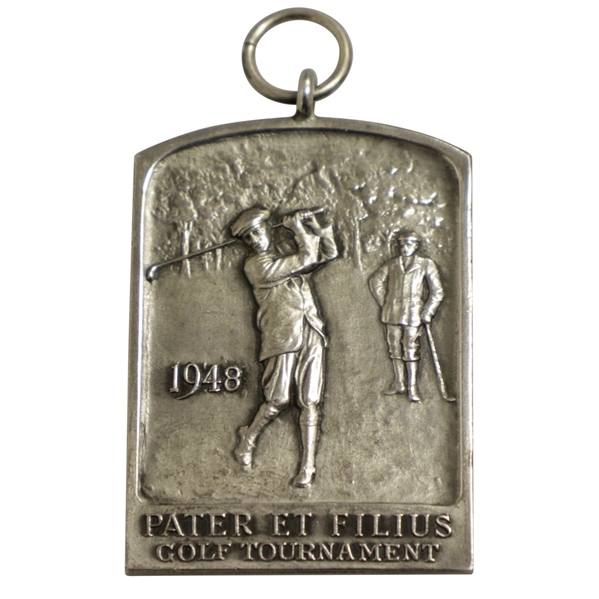 1948 Pater Et Folius (Father and Son) Golf Tournament Second Low Net Sterling Medal