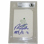 Nick Faldo Signed Augusta National Golf Club Scorecard w/ Yrs Won Beckett #0010768823