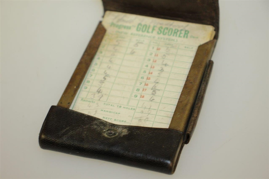 Vintage Leather Scottish Terrier Golf Scores Booklet with Scorecards