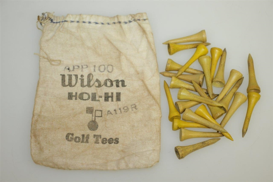 Vintage Wilson Hol-Hi Golf Tees Golf Tee Bag with Tees - App 100 - Crist Collection