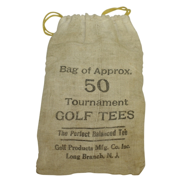 Vintage The Perfect Balanced Tee Canvas Golf Tee Bag with Tees - Crist Collection