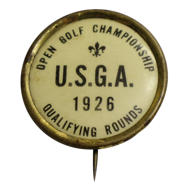 1926 US Open Qualifying Rounds Contestant Badge - Bobby Jones Victory!
