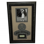 Babe Zaharias Signed Cut With Exquisite Deluxe Presentation Matting & Frame PSA/DNA
