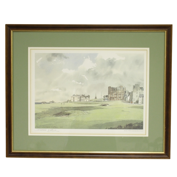 J. Fletcher Watson Ltd Ed R&A Clubhouse Print #729/850 - Framed