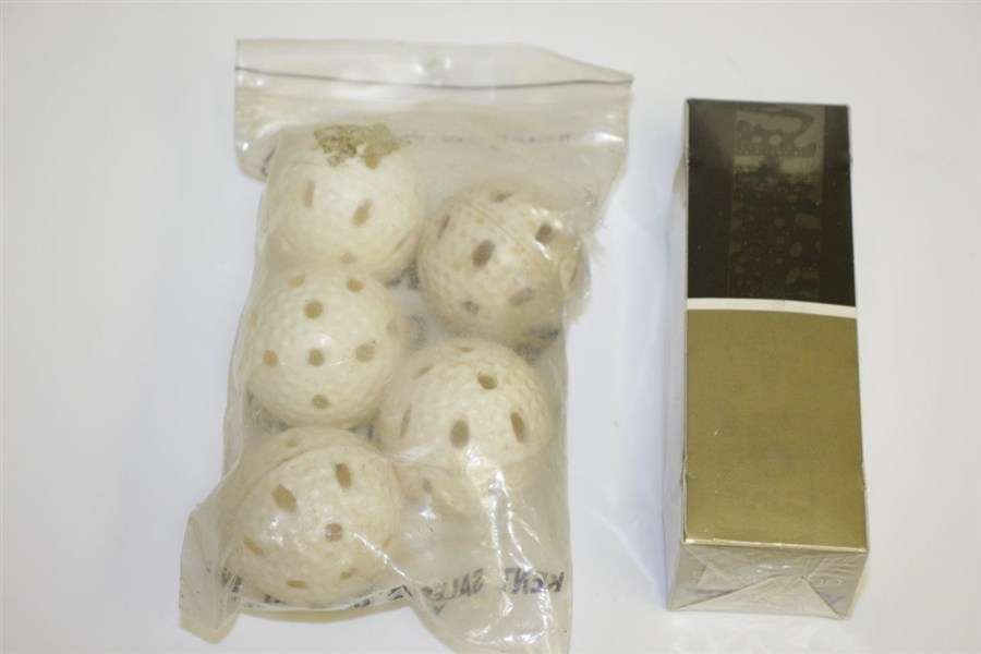 Kent Practice Golf Balls with Sleeve of Unopened Kroydon Golf Balls