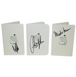 Sandy Lyle, Mark OMeara, & Craig Stadler Signed Augusta National Golf Club Scorecards JSA ALOA