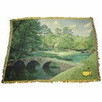 Classic Masters Tournament Large Throw Blanket - Hole 12 with Bridge