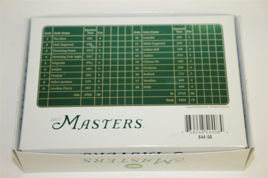 2017 Masters Tournament Dozen Titleist Unsed Logo Golf Balls in Original Box/Sleeves