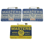1973 Masters Series Badge #3363 with Two 1979 Masters Series Badges #14536 & #14535