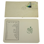 Classic Augusta National Golf Club Scorecard with 1977 FDC