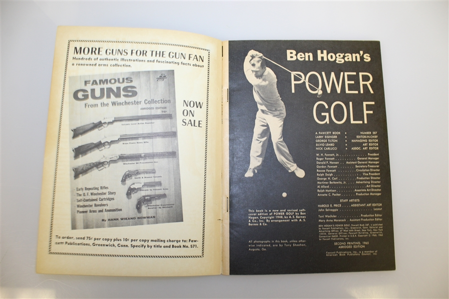 Ben Hogan Signed Book 'Ben Hogan's Power Golf' on Cover JSA ALOA