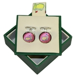 Masters Undated Pink Tie Silk Cuff Links in Original Box