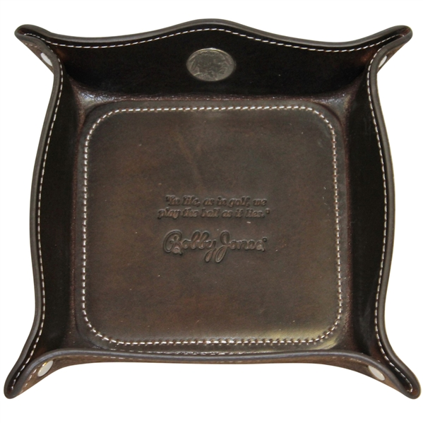 Bobby Jones 1930 Leather Coin Tray with Buffalo Nickel