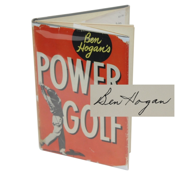 Ben Hogan Signed Golf Book 'Power Golf' - USGA Bookplate JSA ALOA