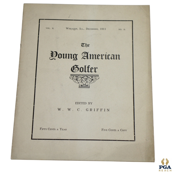 1911 'The Young American Golfer' Booklet Vol. II No. II Edited by W.W.C. Griffin