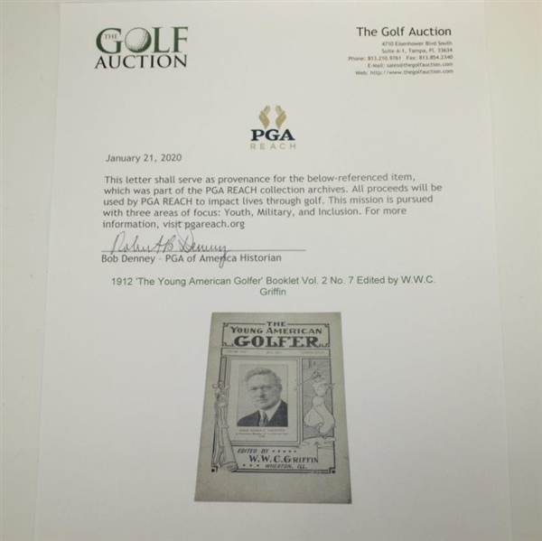 1912 'The Young American Golfer' Booklet Vol. 2 No. 7 Edited by W.W.C. Griffin