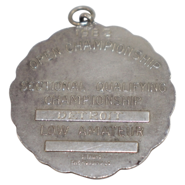 Don Cherry's 1962 US Open Sectional Qualifying Round Low Amateur Sterling Medal Detroit - Nicklaus Win