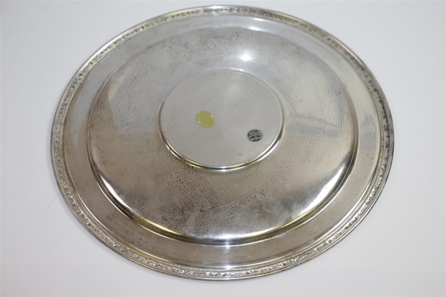 1961 Masters Silver Plate Gifted to Harvey Raynor from Bobby Jones & Clifford Roberts for Masters Contribution