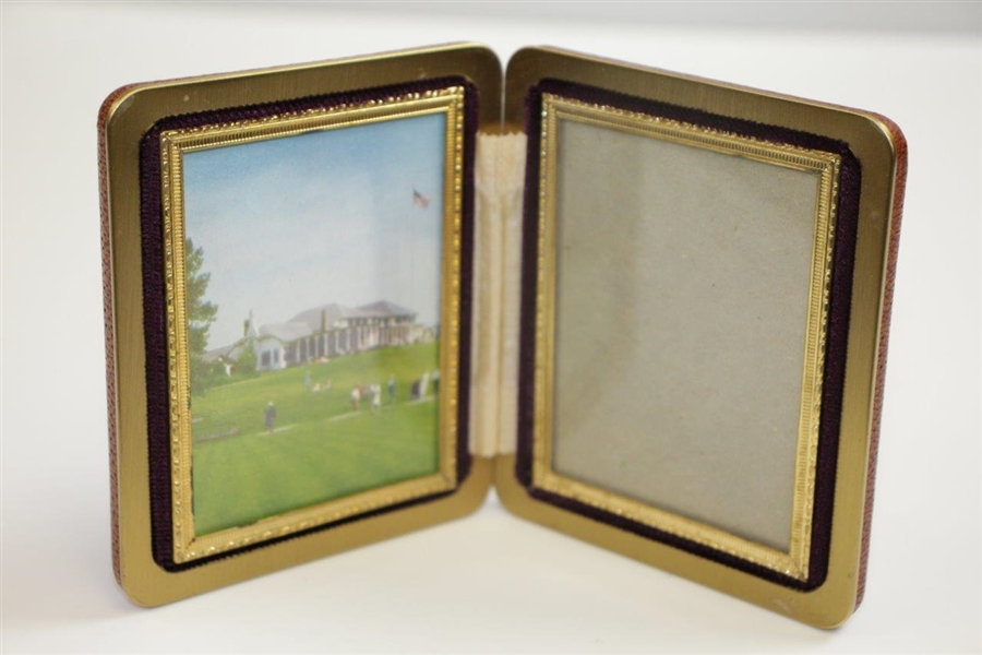 Vintage Pinehurst Resort Deluxe Fold Out Dual Side Picture Frame