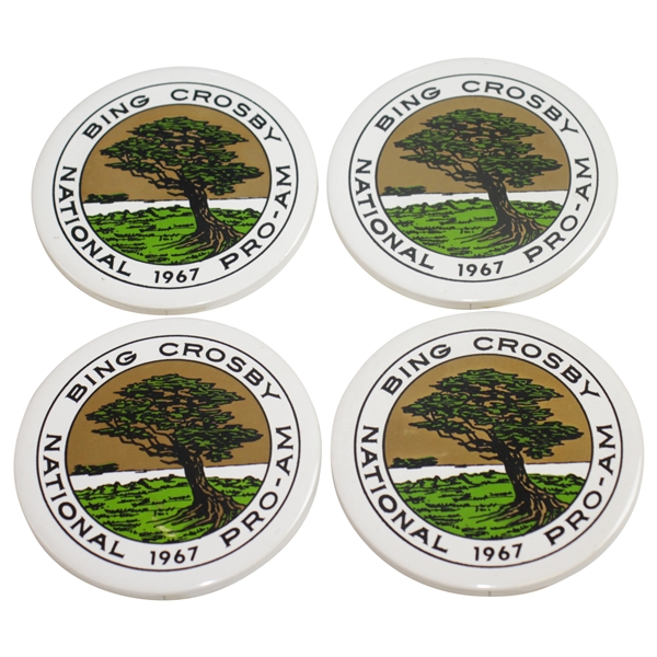 1967 Bing Crosby Pro-Am at Pebble Beach Ceramic Coasters - Nicklaus Win