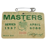 1967 Masters Tournament Series Badge #16586 - Gay Brewer Win