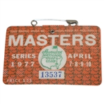 1977 Masters Tournament Series Badge #13537 - Tom Watson Win
