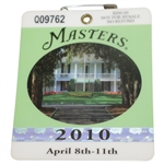 2010 Masters Tournament Series Badge #Q09762 - Phil Mickelson Win