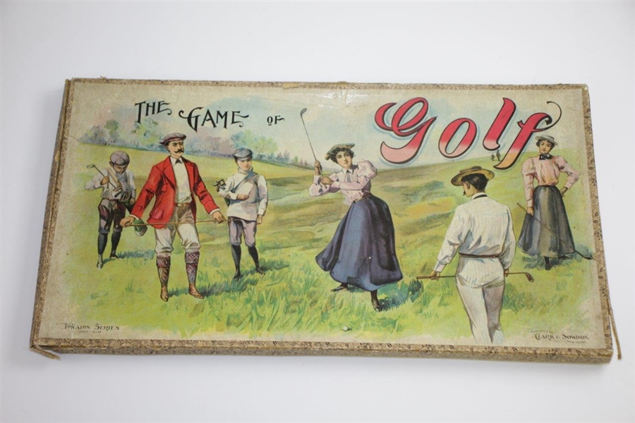 Circa 1899-1905 Clark & Sowdon 'The Game of Golf' Tokalon Series Board Game - Great Colors