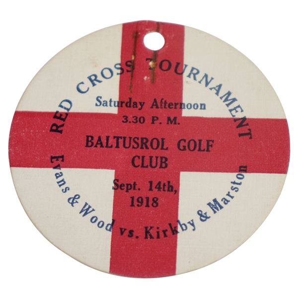 1918 Red Cross Tournament at Baltusrol Evans/Wood vs Kirkby/Marston Ticket