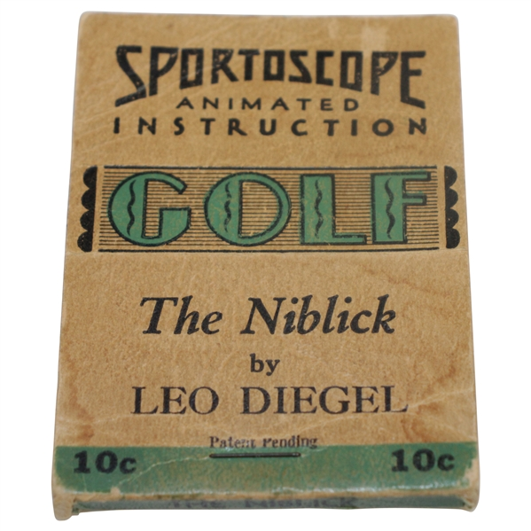 Sportoscope Animated Instruction GOLF 'The Niblick' by Leo Diegel Flip Book