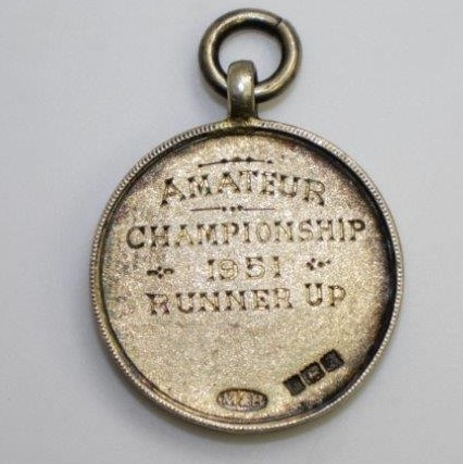 1951 Yorkshire Union of Golf Clubs Amateur Championship Sterling Runner-Up Medal