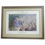 Arnold Palmer Silver Era On in One Ltd Ed US Open Cherry Hills Print 631/975 - Framed