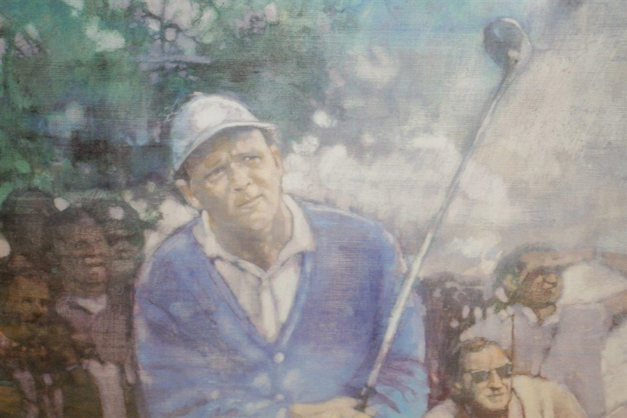 Arnold Palmer Silver Era 'On in One' Ltd Ed US Open Cherry Hills Print 631/975 - Framed